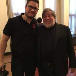 Reel Media Nordic - Eirik Thommessen with Steve Wozniak at the technology conference in Oslo