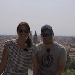 Reel Media Nordic - Taking a break from filming in Verona, Italy