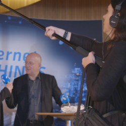 Reel Media Nordic - Recording audio at the technology conference held at the Oslo Opera House