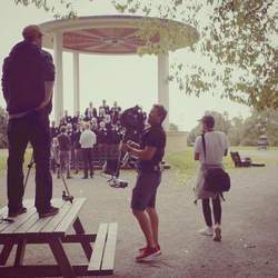 Reel Media Nordic - Filming a commercial in the beautiful Torshov park in Oslo