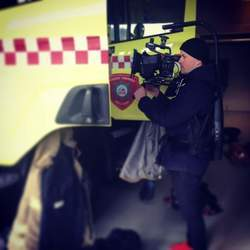 Reel Media Nordic - Filming fire truck for a commercial